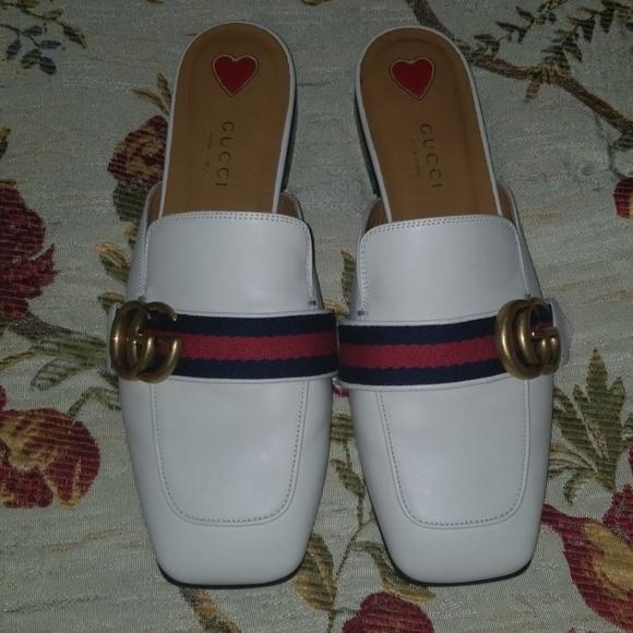 4686a8e9030 Gucci Shoes - Gucci off white mule slipper